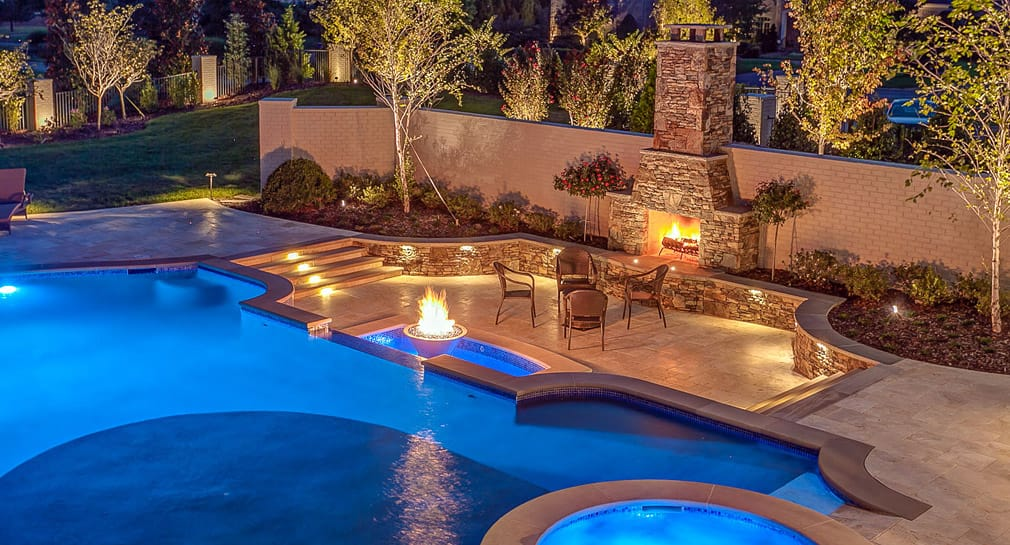 Nashville custom pool design outdoor kitchens pool for Custom pool designs