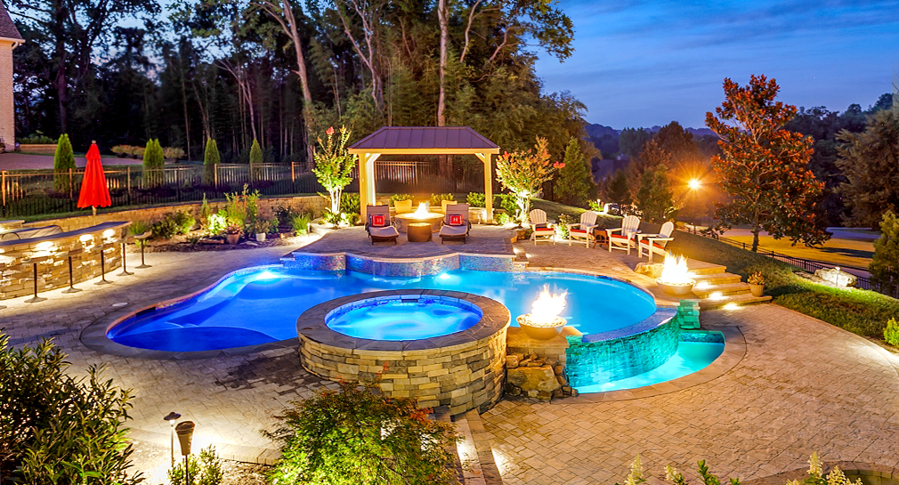 Custom Outdoor Living Space, Pool, Spa