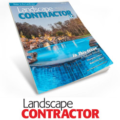 Peek Pools cover feature in Landscape Contractor magazine