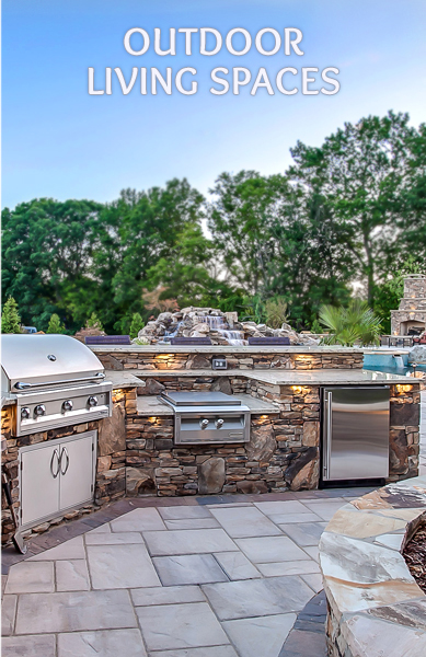 Custom Outoor Living Spaces, Outdoor Kitchens, Fire Pits, Fireplaces