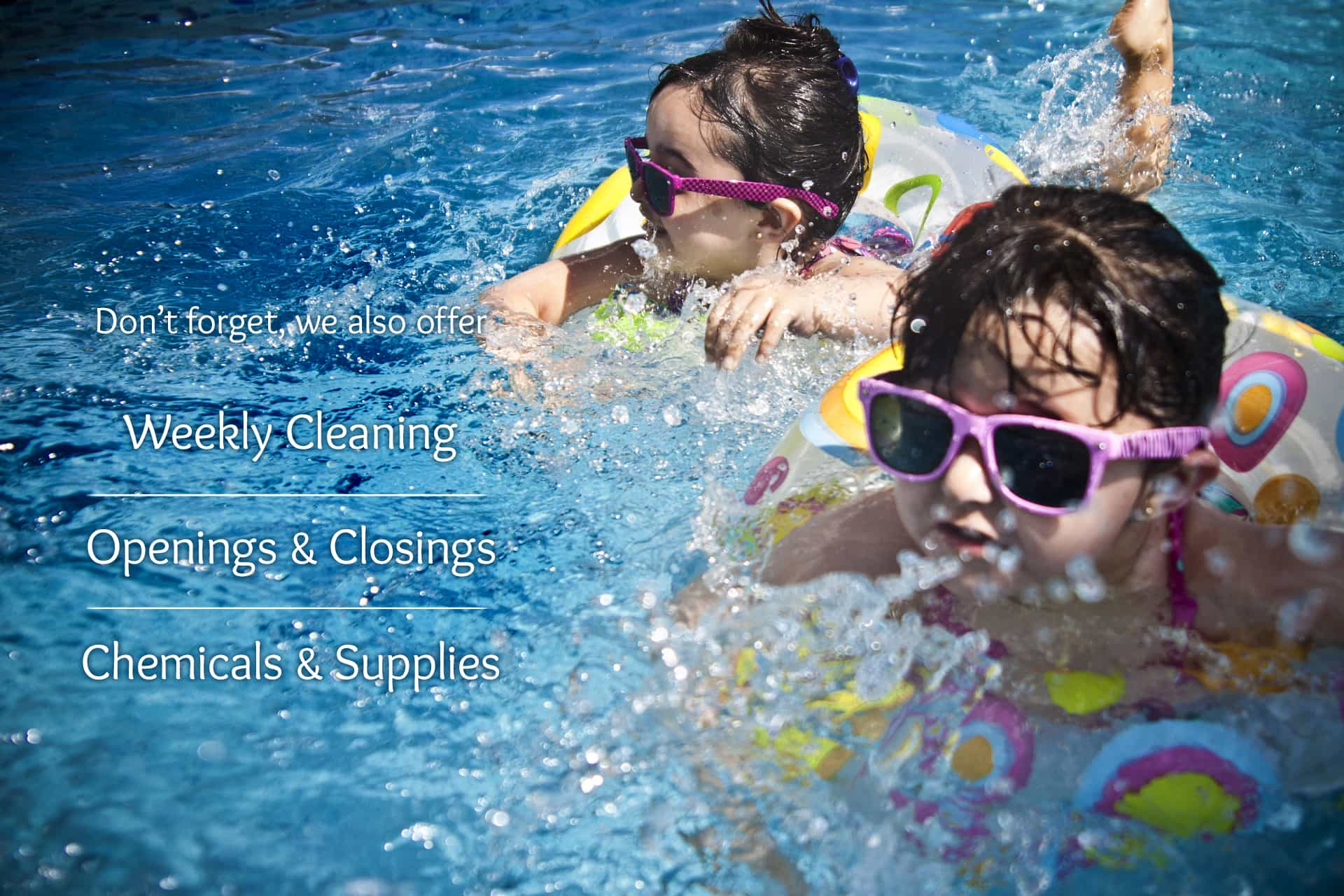 Weekly maintenance and pool chemical supply from Peek Pools