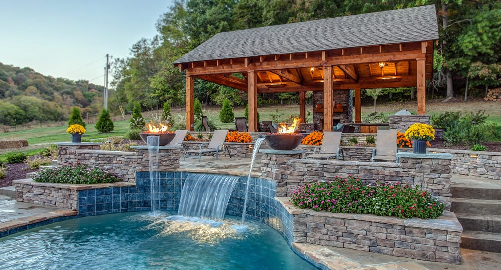 Waterfall and custom pool, Nashville